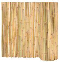 vidaXL Valla cañizo de jardín de bambú 300x100 cm