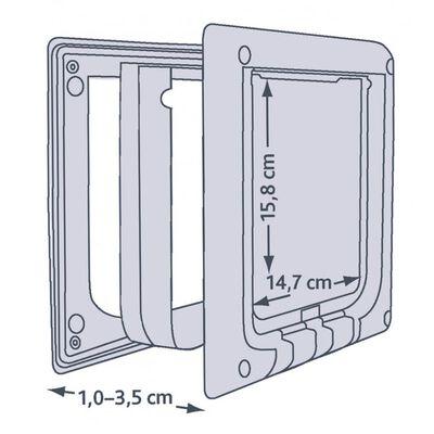 TRIXIE Gatera 4 vías 21,1x24,4 cm electromagnética blanca 3869