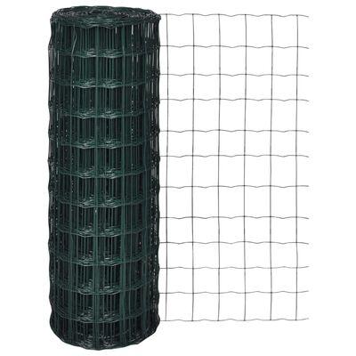 vidaXL Set de euro valla acero verde 10x1,5 m