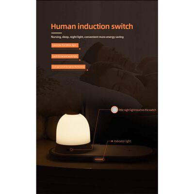 Cargador Qi inalámbrico con iluminación integrada