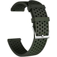 Pulsera de repuesto para Smartwatch silicona 20 mm verde militar