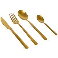 Bo-Camp Juego de cubiertos Fairbanks 16 piezas dorado
