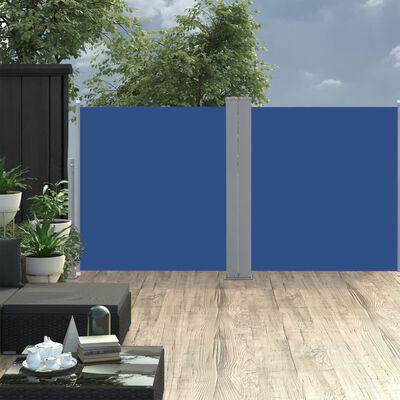 vidaXL Toldo lateral retráctil azul 100x600 cm