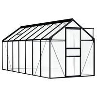 vidaXL Invernadero de aluminio gris antracita 8,17 m²