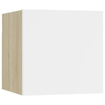 vidaXL Muebles de pared para TV 2 uds blanco roble Sonoma 30,5x30x30cm