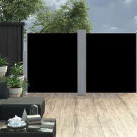 vidaXL Toldo lateral retráctil negro 160x600 cm