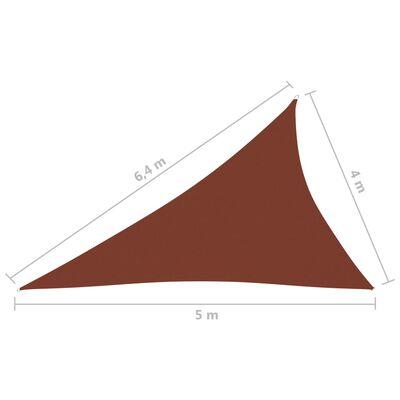 vidaXL Toldo de vela triangular de tela oxford terracota 4x5x6,4 m