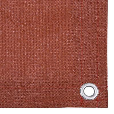 vidaXL Toldo para balcón HDPE terracota 75x600 cm