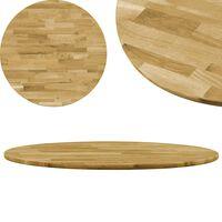 vidaXL Superficie de mesa redonda madera maciza de roble 23 mm 600 mm