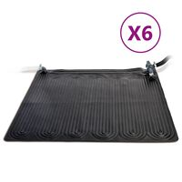Intex Esterillas calefactoras solares PVC 6 uds 1,2x1,2 m negra