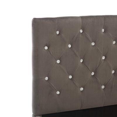 vidaXL Estructura de cama de tela gris 160x200 cm