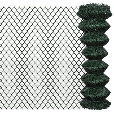 vidaXL Valla de tela metálica acero verde 1,25x25 m