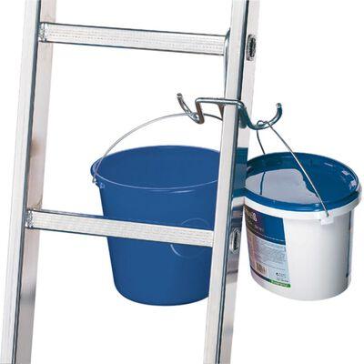 Hailo Gancho para colgar cubos en escaleras SafetyLine acero 9952-001