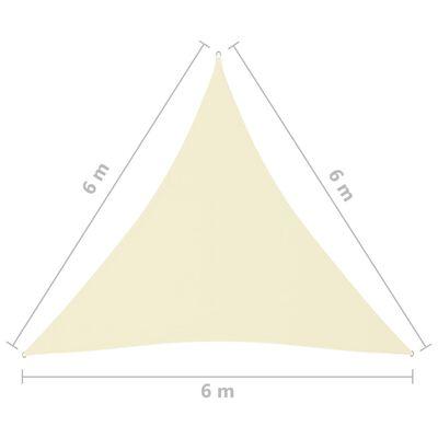 vidaXL Toldo de vela triangular de tela oxford crema 6x6x6 m