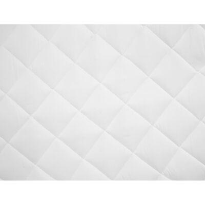 vidaXL Protector de colchón acolchado ligero blanco 120x200 cm