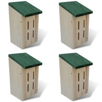 Set 4 cajas nido-refugio para mariposas, 14 x 15 x 22 cm