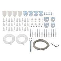 vidaXL Set de accesorios de montaje de toldo 101 piezas