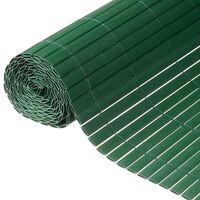 Nature Valla cañizo de ocultación jardín doble cara PVC verde 1x3 m