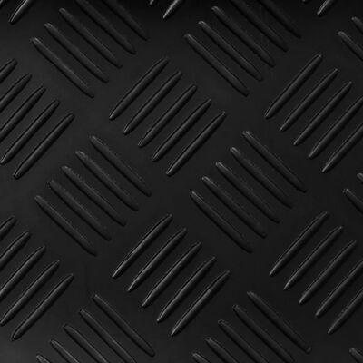 vidaXL Alfombrilla de goma antideslizante placa ajedrezada 5x1 m