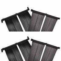 vidaXL Panel de calentador solar de piscina 4 uds 80x620 cm