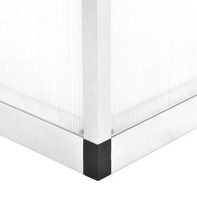 vidaXL Invernadero de aluminio 421x190x195 cm 15,6 m³