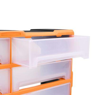 vidaXL Organizador multicajones con 8 cajones grandes 52x16x37 cm