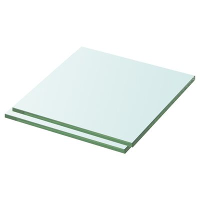vidaXL Estantes 2 unidades panel de vidrio transparente 30x30 cm