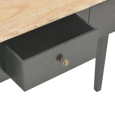 vidaXL Mesa consola tocador de madera negra 79x30x74 cm