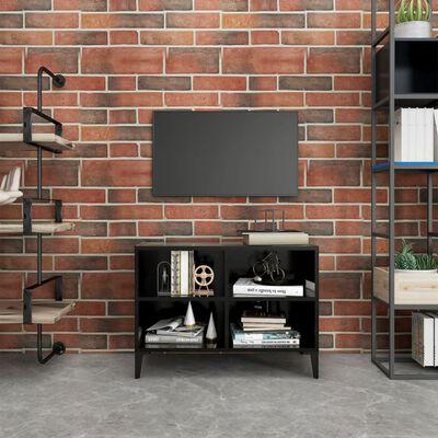 vidaXL Mueble de TV con patas de metal negro 69,5x30x50 cm