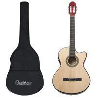 vidaXL Set de guitarra occidental 12 pzas con ecualizador y 6 cuerdas