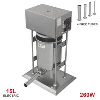 Embutidora Eléctrica de Salchichas 15L Comercial 200W
