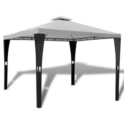 vidaXL Cenador con techo 3x3 m blanco crema