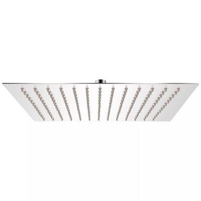 vidaXL Cabezal de ducha cuadrado efecto lluvia acero inoxidable 30x30