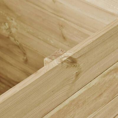 vidaXL Arriate de madera de pino impregnada 100x100x97 cm