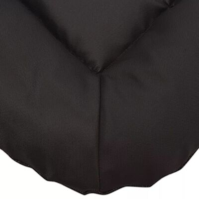 vidaXL Colchón para perro tamaño XL negro