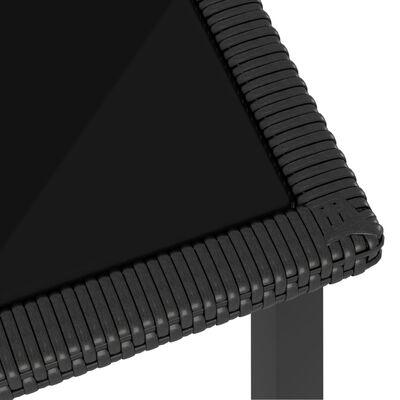 vidaXL Conjunto de comedor de jardín 7 piezas ratán sintético negro