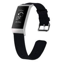 Fitbit Charge 3/4 Pulsera de lona negra - L