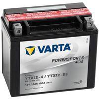 Varta Batería de motocicleta Powersports AGM YTX12-4/YTX12-BS