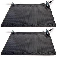 Intex Esterilla calefactora solar PVC 2 uds 1,2x1,2 m negra 28685