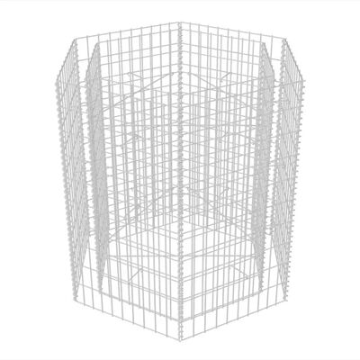 vidaXL Arriate hexagonal de gaviones 100x90x100 cm