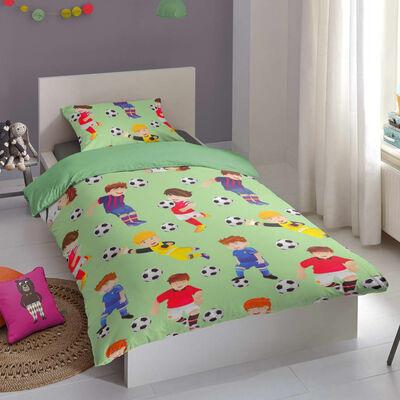 Good Morning Funda de edredón infantil GO 135x200 cm verde