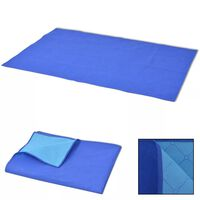 vidaXL Manta de picnic azul y azul claro 150x200 cm