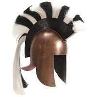 vidaXL Réplica de casco de guerrero griego rol en vivo acero cobre