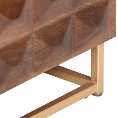 vidaXL Mueble para la TV madera de mango maciza 124x29x45 cm