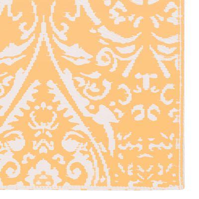 vidaXL Alfombra de exterior PP naranja y blanco 190x290 cm