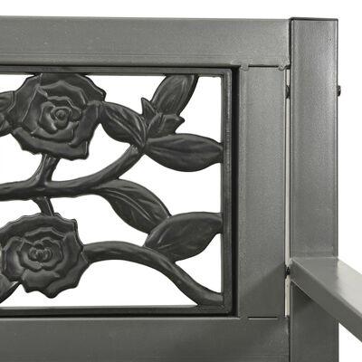 vidaXL Banco de jardín de acero gris 125 cm