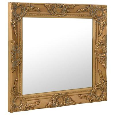 vidaXL Espejo de pared estilo barroco dorado 50x50 cm