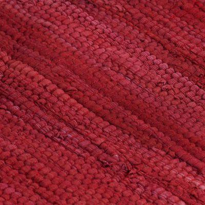 vidaXL Manteles individuales 6 uds Chindi liso algodón burdeos 30x45cm