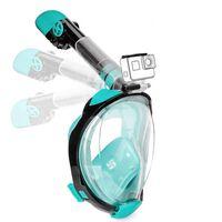 Máscara de snorkel con soporte para cámara - turquesa - S / M
