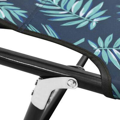 vidaXL Tumbona plegable de acero estampado de hojas